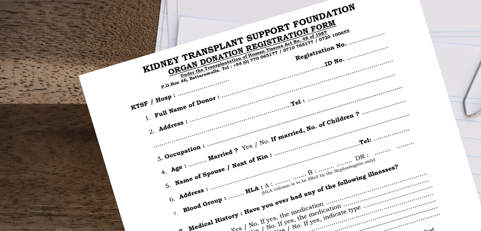 Live Donations : Kidney Transplant Support Foundation